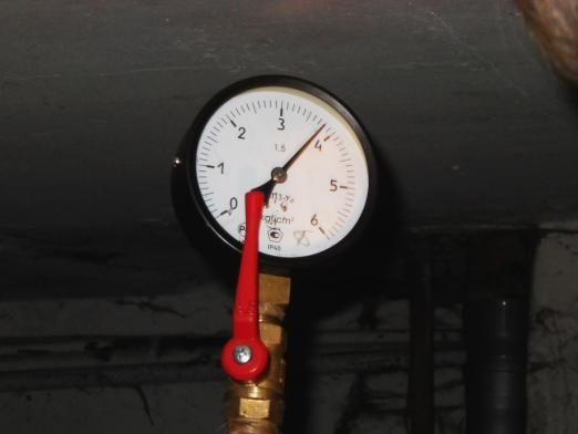 Який тиск в системі опалення?